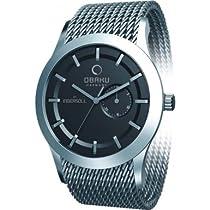 Obaku Harmony Quartz Watch with Pointer Date Sub-Dial V124GCBMC