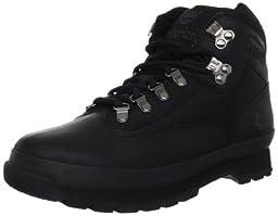 Timberland Men\'s Euro Boot,Black Smooth,9 M US