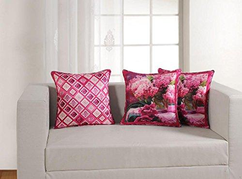 "Swayam Deco Printed Vibrant Color 5 Piece Cushion Cover Set - 16""x16"", Multicolor (DCC165-1158)"