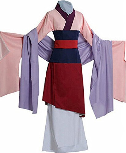 [Kmoac Halloween Costume Hua Mulan Outfit Dress-Female-Medium] (Adult Mulan Costumes)