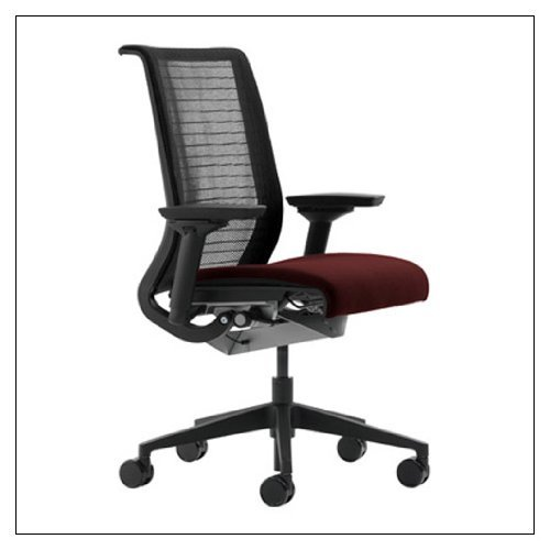 Steelcase Think Chair(R) - 3D Knit and Buzz2 Fabric, color = Burgundy