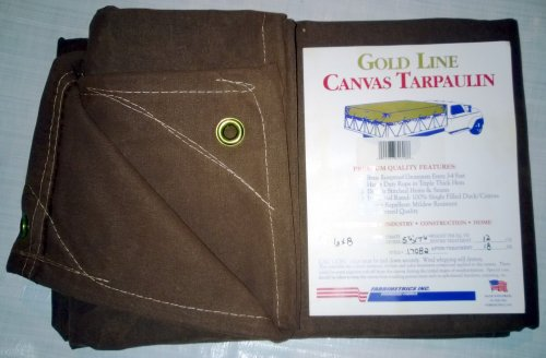 New 12'x20' Brown Canvas Canopy Tarp