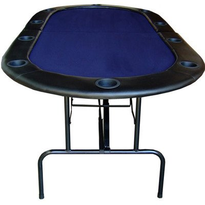 """82"""" Foldable Texas Hold'em Poker Table Table Top Color: Blue"""