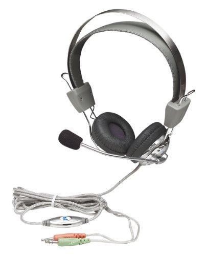 Manhattan Stereo Headset (Flexibles Mikrofon aus Edelstahl mit integrierter Lautstärkeregelung)