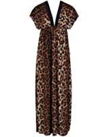 Unknown - Robe -  - Robe maxi - Imprimé animal - Manches courtes Femme