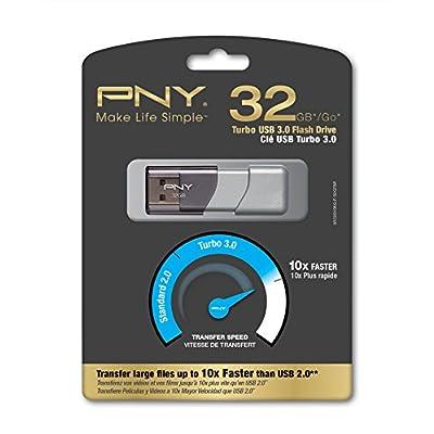 PNY Turbo 32GB USB 3.0 drive (P-FD32GTBOP-GE)