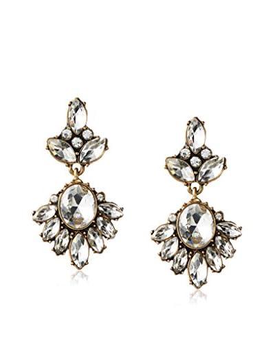 David Aubrey Resin Crystal Statement Earrings