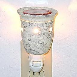 Plug-In Tart Burner - Ivory Marble