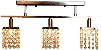 ANNT 3-Light Hanging Crystal Linear Chandelier