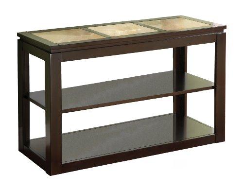 Furniture of america granvia sofa table with tile insert for Furniture of america sofa table