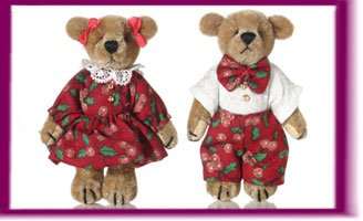 41CBmy5jWlL Cheap  Collectible Miniature Handmade Bears Phil & Phoebe #5033