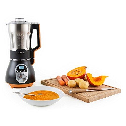 Klarstein-Soup-Chef-Mixeur--soupe-chauffant-pour-soupes-sauces-pures-smoothies-900W-rcipient-gradu-de-175L-en-inox-4-vitesses-fonctions-pure-fine-et-paisse-orange