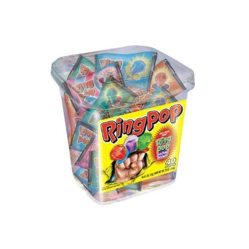 RingPop-Jewel Shaped Hard Candy, 40ct Variety Pack