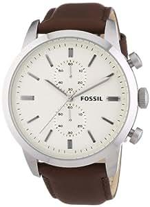 Fossil Herren-Armbanduhr XL Townsman Chronograph Quarz Leder FS4865