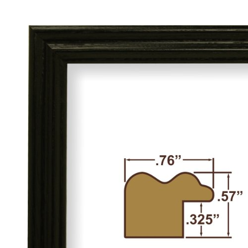 24x36 Picture / Poster Frame, Wood Grain Finish, .75