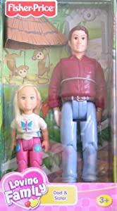 41CBq6rZiEL. SY300  Cheap Buy  Fisher Price Loving Family Dollhouse Figures: Dad & Sister