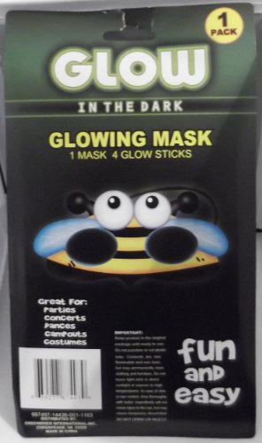 Glow in the Dark Glowing Mask - Bumble Bee