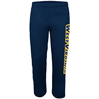NCAA West Virginia University Men's Collecting Wins Fleece Pant, Navy, Small