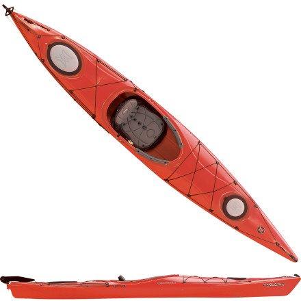 Low Price Perception Carolina 14 0 Kayak w/ Rudder Red, 14