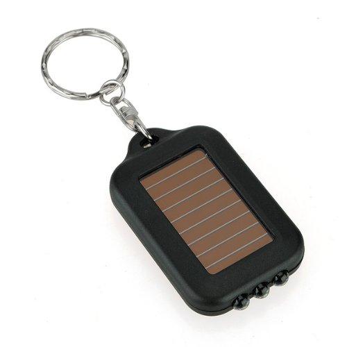 3 Led Portable Mini Solar Power Panel Led Flashlight Keychain