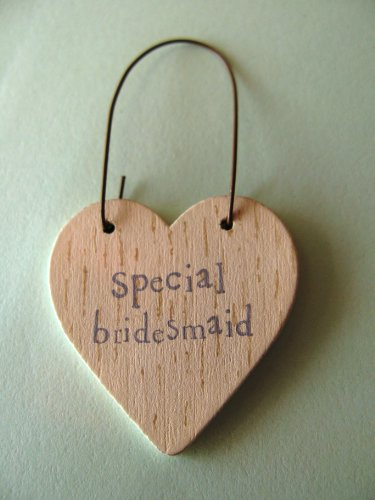 East of India Special Bridesmaid wooden heart gift tag
