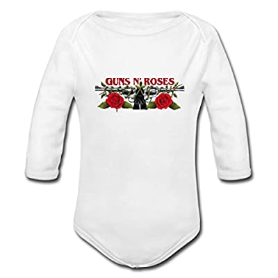 Fundeardk Baby Guns N Roses Bullet Novelty Design Powder Organic Long Sleeve One Piece