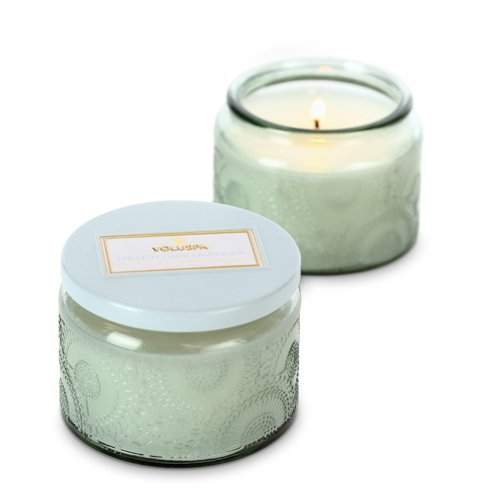 Voluspa Small Glass Jar Candle, French Cade & Lavender, 3.2 oz