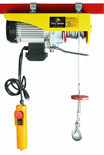 SDT 1760 LBS Mini Electric Wire Hoist Overhead Crane Lift with 110 V Motor and Remote Control for Garage Auto Shop (Crane Remote compare prices)
