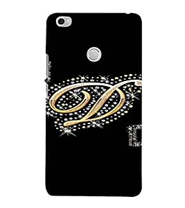 PrintVisa D Letter Bling Design 3D Hard Polycarbonate Designer Back Case Cover for Xiaomi Max