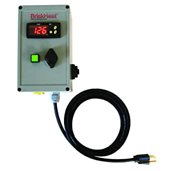 BriskHeat TTD500-K120 HotPoly TTD Outdoor-Use Digital On/Off Thermocouple Temperature Controller with Type-K Thermocouple, Range: 32 To 500°F, 120VAC