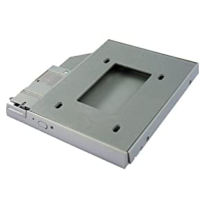 "SATA 2nd Hard Disk Drive HDD Bay Caddy Adapter for Dell Latitude D400 D500 D600 D800 (Accept 2.5""/9.5mm SATA HDD)"