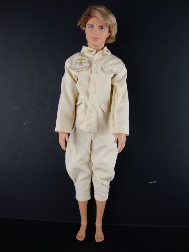 Ken Doll 2 Pc Outfit Cream Colored Shirt and Pants Made to Fit the Ken Doll