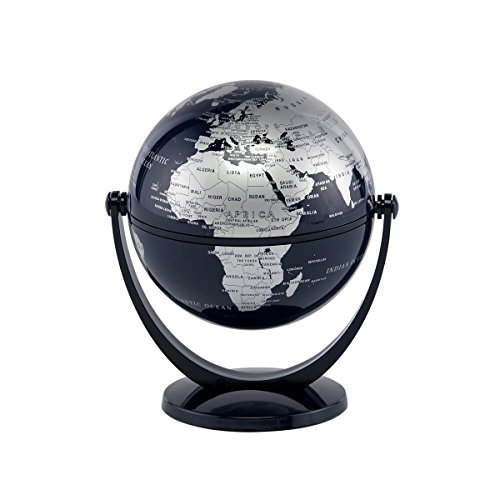 Stella Nova Silver and Blue Ocean Swivel and Tilt Globe, 4-Inch