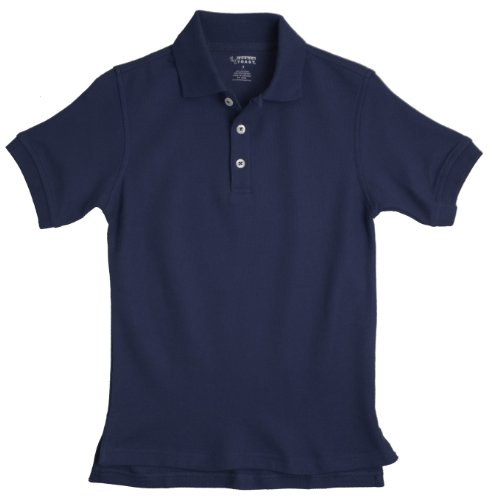 French Toast School Uniforms Short Sleeve Pique Polo Boys navy 18 HUSKY