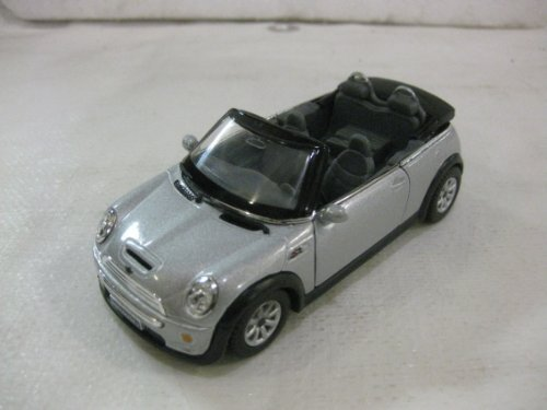 Mini Cooper S Convertible In Gray Diecast 1:28 Scale By Kinsmart - 1