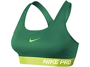 Women's Nike Pro Padded Sports Bra Turbo Green 589420-383 (L)