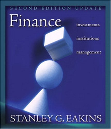 Finance: Investments, Institutions, and Management - Update (2nd Edition) (Addison-Wesley Series in Finance)