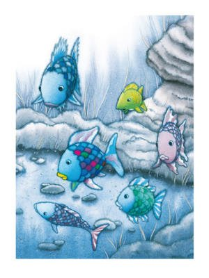 Marcus Pfister The Rainbow Fish I Foil Art Print Poster - 24x32