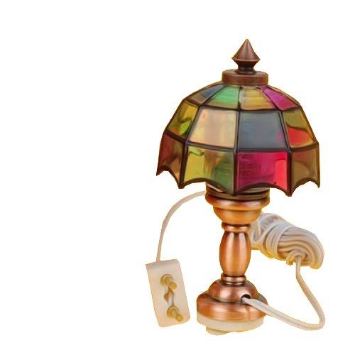 1/12 Miniatura Casa Delle Bambole Luce Bel Colore Lampada Da Lettura Da Tavolo Scrivania Tl013a