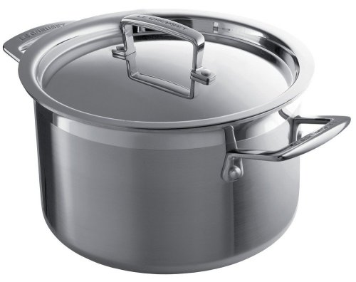 Le Creuset 3-Ply Stainless Steel Deep Casserole, 24 cm