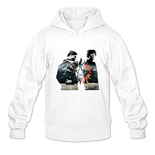 Crystal Men's Supernatural Dean Sam Winchester Long Sleeve Jacket White US Size XXL (Sam And Dean Winchester Jacket compare prices)