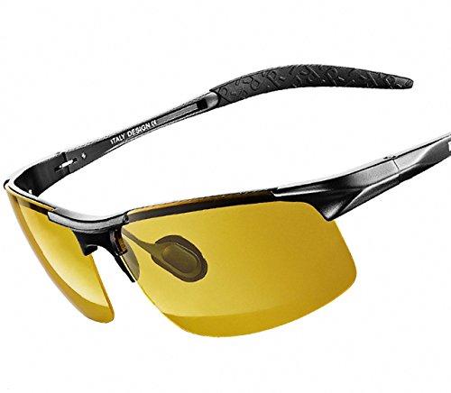 2b1905489f ATTCL® 2015 Al-Mg Metal Frame Driving Polarized Sunglasses for Men (HD Night