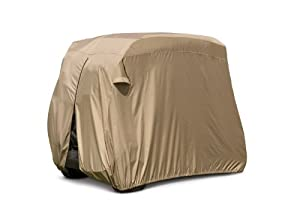 Classic Accessories Fairway Golf Cart Easy-On Cover, Tan by Classic Accessories