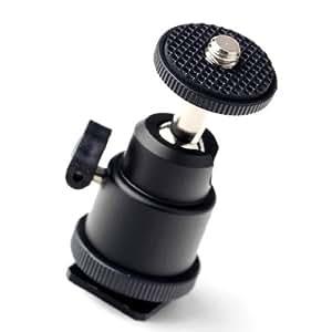 フラッシュガンとホットシューマウント用 カメラ ミニ 三脚 ボール 雲台 フラッシュ ホルダー ボールヘッド ブラケット