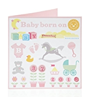 Baby Born on Birthday Card