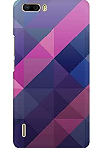 AMEZ designer printed 3d premium high quality back case cover for Huawei Honor 6 Plus (abstract purple)