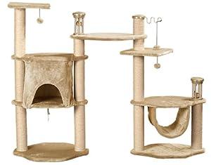 Whisker World Deluxe Cat Amusement Center Cat Furniture, Beige