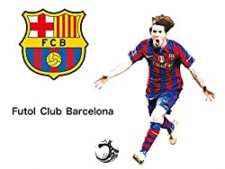 Fange DIY Removable Football Star Messi Art Mural Vinyl Waterproof Wall Stickers Living Room Decor Student Dormitory Decal Sticker Wallpaper 35.4 x23.6