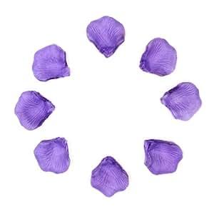 1000 Pétales de Rose en Soie pour Mariage - Couleur Violette