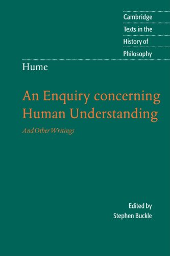 "an analysis of the future occurrences in an enquiry concerning human understanding ""david hume's enquiry concerning human understanding is a philosophical masterpiece that explores the nature of human cognition and the limits of our knowledge this edition of the enquiry helpfully puts the text in its historical context by presenting it alongside responses from hume's most significant 18th-century critics: george."